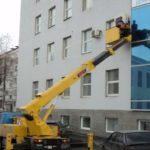 Фасадные работы автовышка